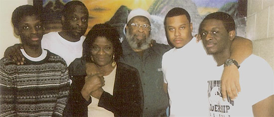 Sekou and family prison visit