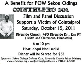 Oct. 15, 2011 COINTELPRO 101 movie benefit